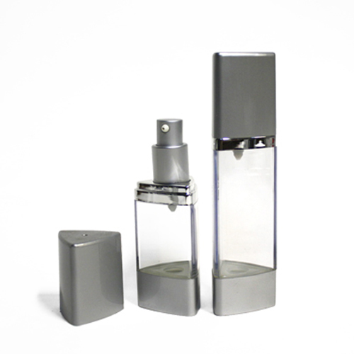 Triangle airless bottle for liquid foundation
