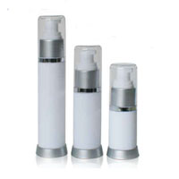 White Frosted Airless Bottles